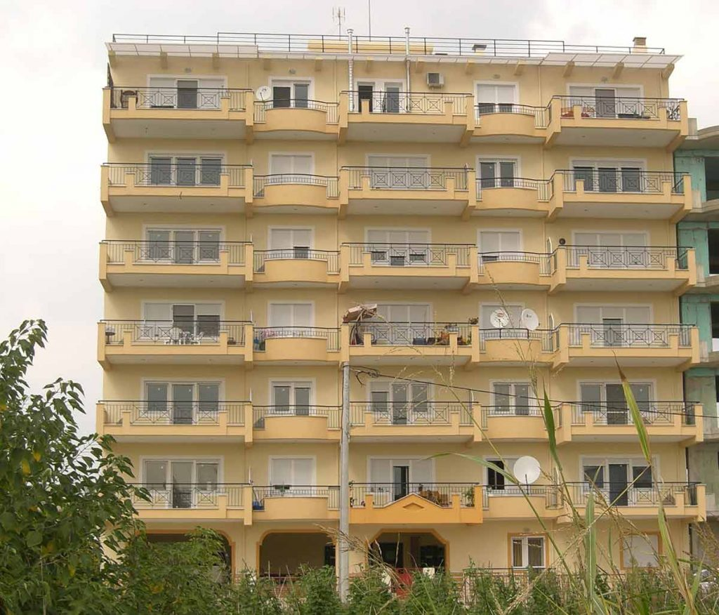 Apartment buildings in Chrysoupoli